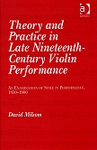 theory and practice 19 cent violin perf