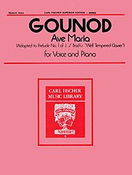 Ave Maria Gounod - Medium Voice